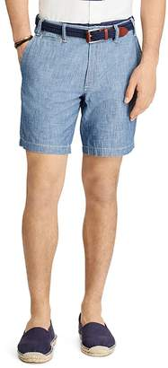 Polo Ralph Lauren Chambray Straight Fit Shorts $69.50 thestylecure.com