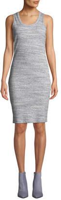 MICHAEL Michael Kors Space-Dye Scoop-Neck Fitted Rib Tank Dress