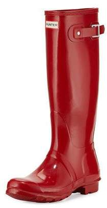 Hunter Boot Original Tall Gloss Rain Boot, Red $150 thestylecure.com
