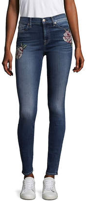 7 For All Mankind Seven 7 Floral Needle Point Skinny Jeans