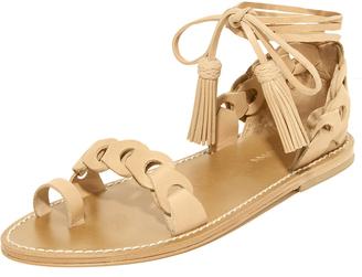 Zimmermann Link Tie Flat Sandals $395 thestylecure.com