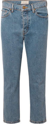 The Great The Rigid Fellow Cropped High-rise Straight-leg Jeans - Mid denim