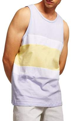 Topman Colorblock Slim Fit Tank Top
