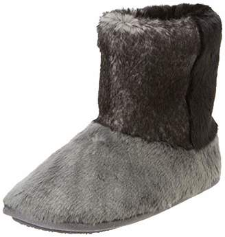 Isotoner Women's Faux Fur Boot Slippers Low-Top (Grey Gry), 39 EU