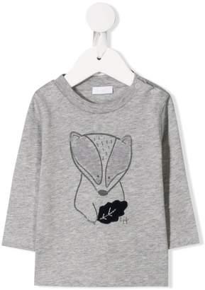 Il Gufo badger print long-sleeve top
