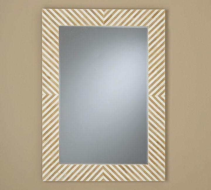 Chevron Bone Mirror