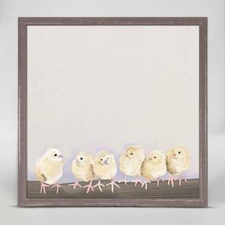 Oopsy Daisy Fine Art For Kids Baby Chicks by Cathy Walters Mini Canvas Framed Art
