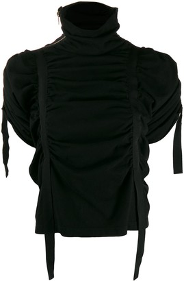 aganovich ruched tape top