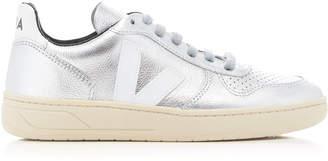 Veja V10 Metallic Leather Sneaker