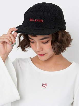 Milkfed. (ミルクフェド) - MILKFED STENCIL LOGO SHEARLING CAP ミルクフェド 帽子/ヘア小物