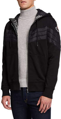 Moose Knuckles Men's Concordia French Terry Quilted Hoodie Sweatshirt