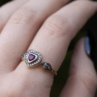 RegalRose Amethyst Heart Ring In Silver Or Gold