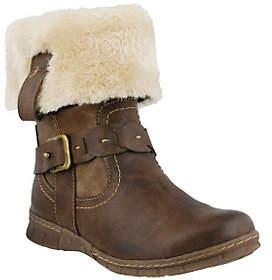 Spring Step Boots with Faux Fur Cuff - Peeta