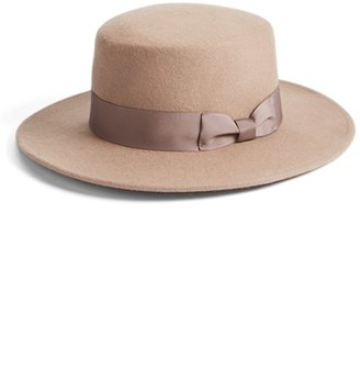 Lack of Color 'The Stahl' Felted Wool Boater Hat $69 thestylecure.com