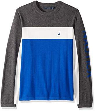 Nautica Men's Colorblocked Crewneck Sweater