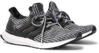 adidas UltraBOOST Rubber-Trimmed Primeknit Sneakers - Gray