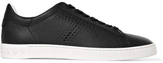 Tod's Logo-perforated Textured-leather Sneakers - Black