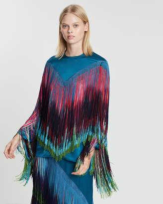 Romance Was Born Goddess Fringe Top