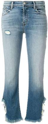 J Brand frayed edge cropped jeans
