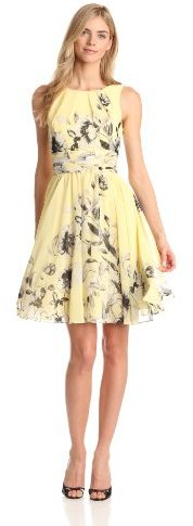 Eliza J Women's Sleeveless Fit And Flare Printed Dress