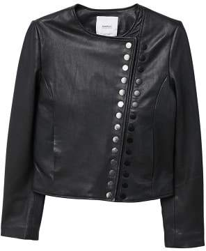 MANGO Buttoned leather jacket