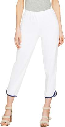 C. Wonder Regular Cotton Sateen Crop Pants with Hem Detail