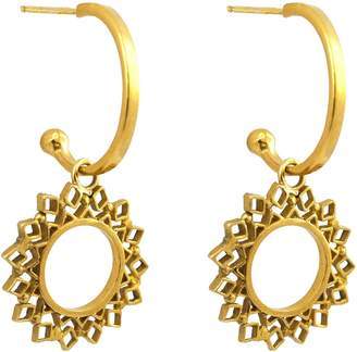 Annabelle Lucilla Jewellery - Spectrum Charm Hoops Gold