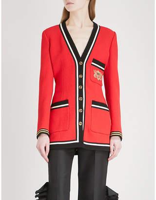 Gucci Crest-embroidered wool blazer