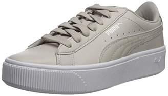 1fe2498b63a Puma Women s Vikky Stacked Sneaker Gray-Silver g