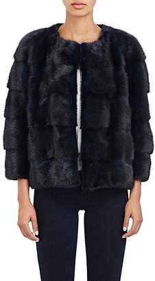 LILLY e VIOLETTA Women's Fur Bomber Jacket