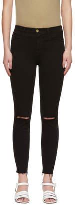 Frame Black Le High Skinny Crop Jeans