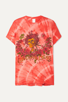 MadeWorn Grateful Dead Distressed Printed Cotton-jersey T-shirt - Red