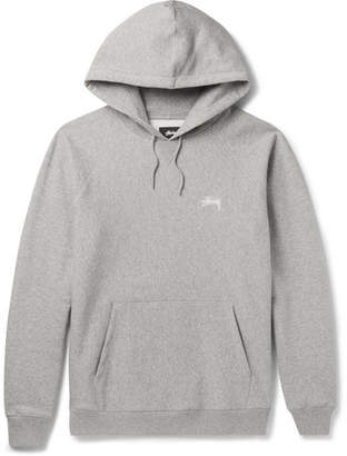 Stüssy Fleece-Back Cotton-Jersey Hoodie $95 thestylecure.com
