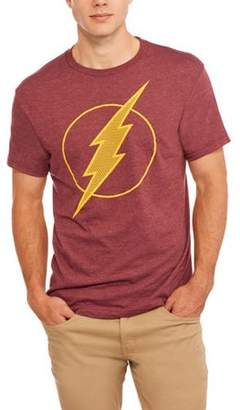 Super Heroes & Villains DC Comics Men's Flash Logo Polyester T-shirt