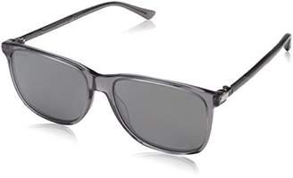 Gucci Men's GG0017S Sunglasses, Grey-Silver