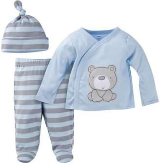 Gerber Baby Boy's 3-Piece Take Me Home Set Sleepwear