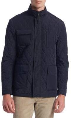 Saks Fifth Avenue COLLECTION Quilted Car Coat