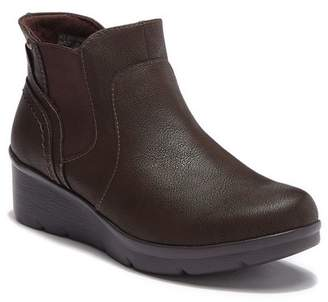 Earth Origins Darcy Faux Leather Wedge Bootie