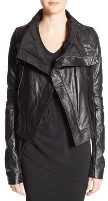 Women's Rick Owens Classic Leather Biker Jacket $2,145 thestylecure.com