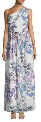 Lauren Ralph Lauren Floral One-Shoulder Maxi Dress