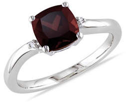 HBC CONCERTO Garnet and Diamond Accent Sterling Silver Ring