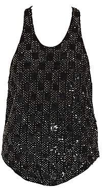 Saint Laurent Women's Beaded Tank Top