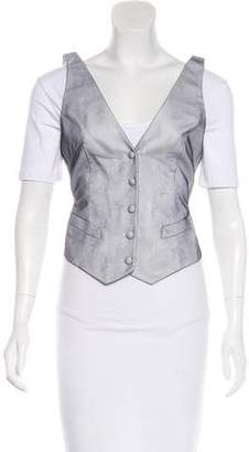Alexander McQueen Mesh-Trimmed Button-Up Vest