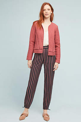 Anthropologie Silky Striped Joggers