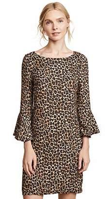 Three Dots Women's LG7427 Leopard Print Bomber Jacket