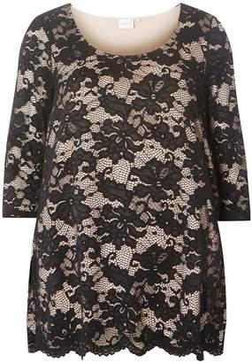 e912148a79f2 Dorothy Perkins Womens   Juna Rose Curve Black Lace Top