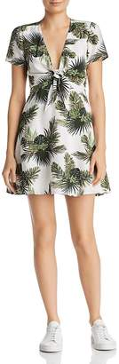 Re:Named Paradise Tropical Print A-Line Mini Dress