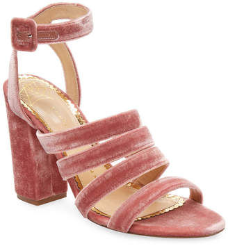Charlotte Olympia Velvet Strappy Sandal