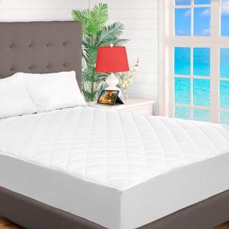 Bare Home Quilted Fitted Mattress Pad - Cooling Mattress Topper - Hypoallergenic Down Alternative Fiberfill - Stretch-To-Fit (Split Head Flex King)