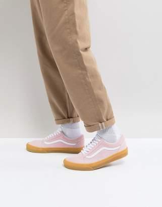 Vans Old Skool Gum Sole Sneakers In Pink VA38G1QK7